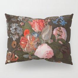 "Adriaen van der Spelt ""Still life of flowers on a stone ledge"" Pillow Sham"