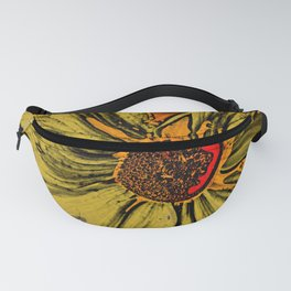 Sun Flower Picasso style Fanny Pack