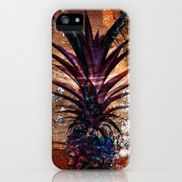 Copper Leaf Pineapple Art #buyart iPhone Case