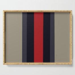 High Fashion Designer Style Stripes Serving Tray