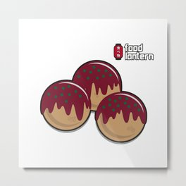 Food Lantern - Takoyaki Metal Print