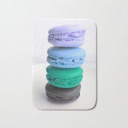 macarons / macaroons Blue Lavender Teal Slate Bath Mat