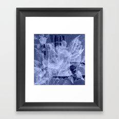blue fozen leaves Framed Art Print