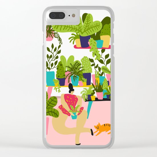 Love Plants Clear iPhone Case
