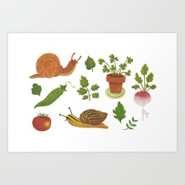 L'orto è un giardino Art Print