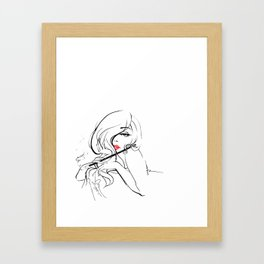 Patiently Waiting Framed Art Print