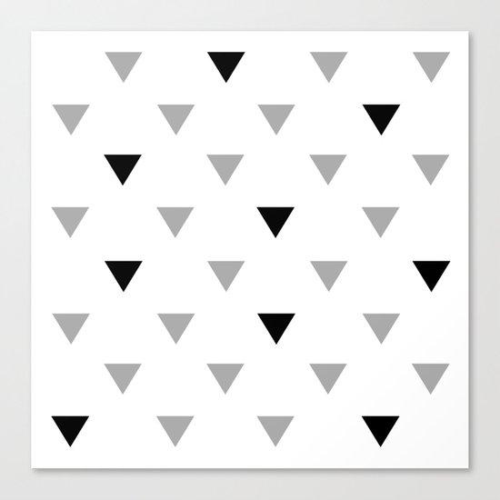 black triangles Canvas Print