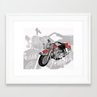 motorbike Framed Art Prints featuring MotorBike by tuncay cavdar