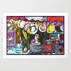 The Hat Man Art Print