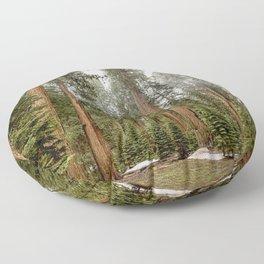 Sequoias in the Fog Floor Pillow