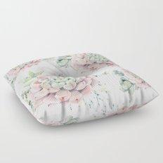 Pink Echeveria #society6 #buyart Floor Pillow