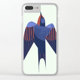 Barn Swallow Clear iPhone Case
