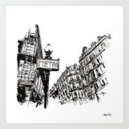 Urban Inkscape 3 Paris Art Print