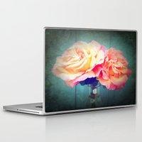 vintage flowers Laptop & iPad Skins featuring Vintage Flowers by 2sweet4words Designs