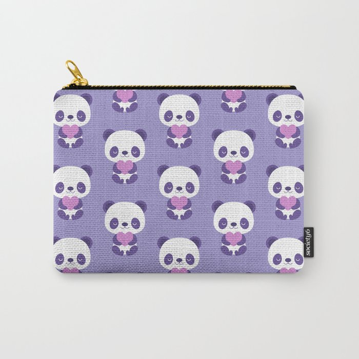 Cute purple baby pandas Carry-All Pouch