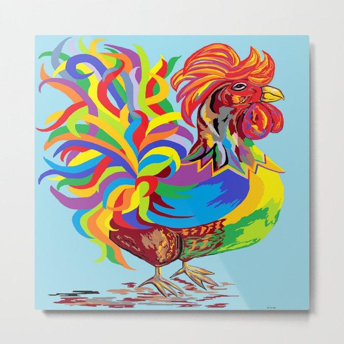 Fiesta Rooster Metal Print