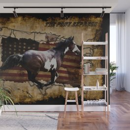 The Pony Express Wall Mural