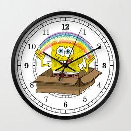 spongebob squarepants imagination Wall Clock