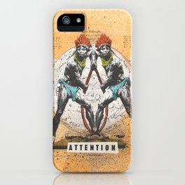 Attention iPhone Case