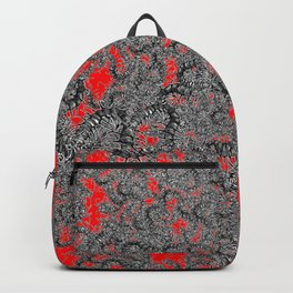 Centipede party red Backpack