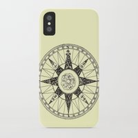 compass iPhone & iPod Cases featuring Compass by Smokacinno