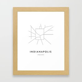 Indianapolis, IN Framed Art Print