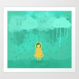 Rain friends Art Print