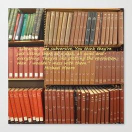 Librarians are Subversive Canvas Print