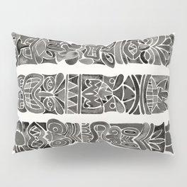 Tiki Totems – Black Pillow Sham