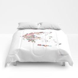 Greece map portrait Comforters