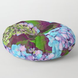 Hydrangea Pink and Blue Floor Pillow