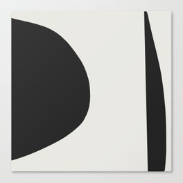 Minimal Black Canvas Print