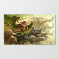 Green Angel Canvas Print