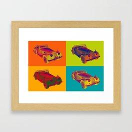 1964 Morgan Plus 4 Convertible Pop Art Framed Art Print