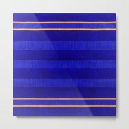 N241 - Navy Deep Calm Blue Velvet Texture Moroccan Style  Metal Print