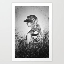 Blinded Sheep Art Print