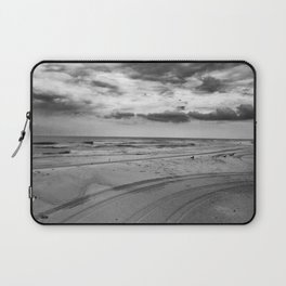 Driving on Assateague Island (Black and White) Laptop Sleeve