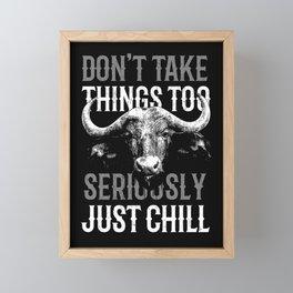 Just Chill Framed Mini Art Print