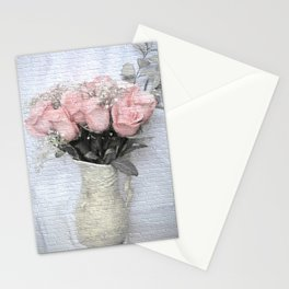 Love Silently - Flower Art Stationery Cards