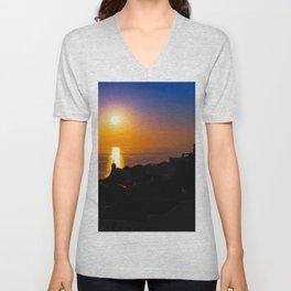 Oia sunset i Unisex V-Neck