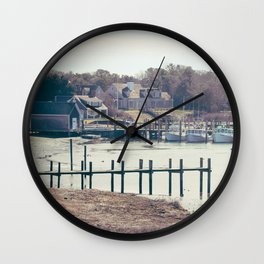 Wychmere Harbor, Harwich, Cape Cod, Massachusetts Wall Clock
