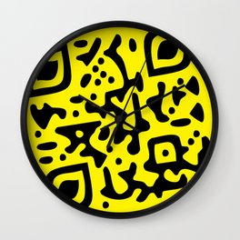 QR Clothes Yellow - Accessories Wall Clock