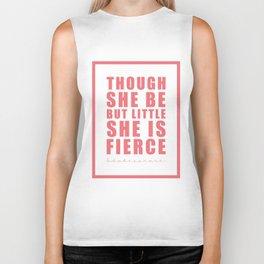Though she be but little she is fierce. Shakespeare Biker Tank