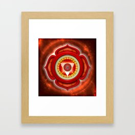 "Muladhara Chakra - Root Chakra - Series ""Open Chakra"" Framed Art Print"