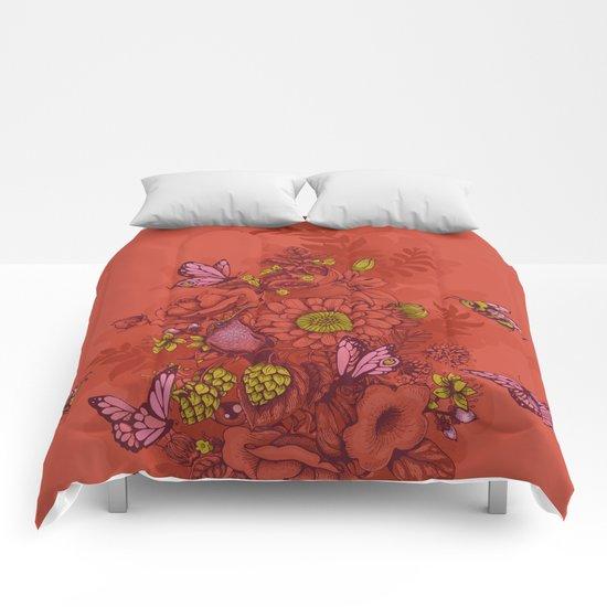 Beauty (eye of the beholder) - terracotta version Comforters
