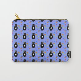 Black cats with balloons and Halloween pumpkins pattern Carry-All Pouch