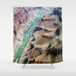 Grand Canyon Bird's eye view #4 Shower Curtain