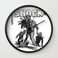 zombies Wall Clocks featuring Zombies by Christian G. Marra