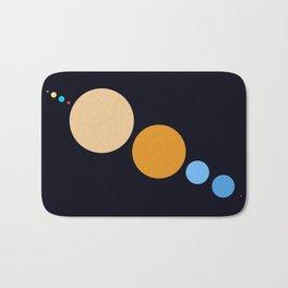 Planets To Scale (Diagonal) Bath Mat