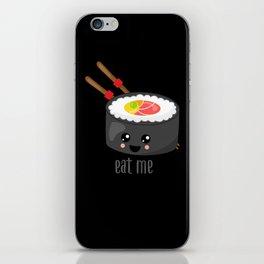 Eat Me in black iPhone Skin